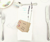 custom printed menus and kraft place tags