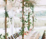 Ivy Trellis Table Decor