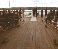Lake Dock Wedding Ceremony