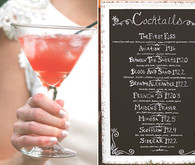 1920's cocktail menu