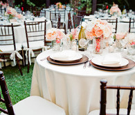 Peach and Pink Sweetheart Table