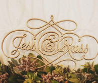 Jessica Hische laser cut wedding sign