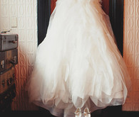 Jessica Hische custom wedding gown