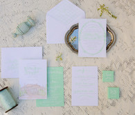 Renaissance inspired wedding invitations
