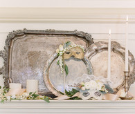 Vintage Tray Mantle Decor