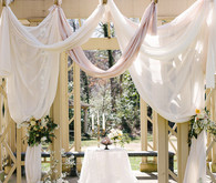 Romantic Southern Draped Pergola