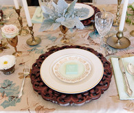 Southern Romantic Place Setting with Floral Linen