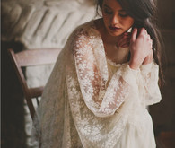 Rustic Vintage Lace Irish Gown