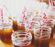 Mason Jar Sweet Tea with Pink Striped Straws