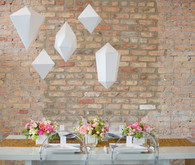 Pastel Geometric Reception Decor
