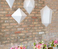 White Hanging Paper Geometric Shapes