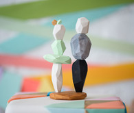 Pastel Geometric Cake Toppers