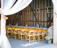 Tulle Draped Rustic Ceremony