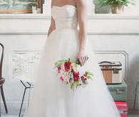 Amsale Strapless Ball Gown