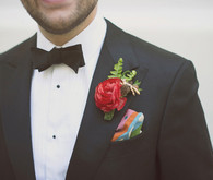Black Tux with Colorful Michael James Milton Pocket Square