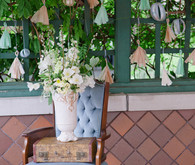 Peach and Mint Hanging Fringe Decor