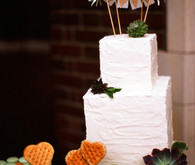 Succulent Cake with Bunting Cake Topper