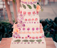 Tiered Floral Petal Cake