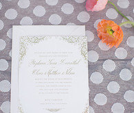 Elegant Floral Spring Wedding Invitations