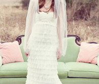 Priscilla of Boston Ruffled Sweetheart Gown