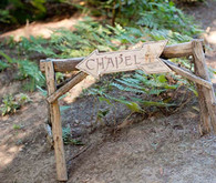 Wooden Carved Chapel Sign