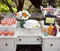 DIY Cake and Drinks Table