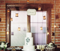 Hanging Lantern Rustic Dessert Table