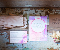 Purple and Pink Watercolor Invitations