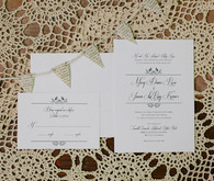 Simple White and Calligraphy Invitations