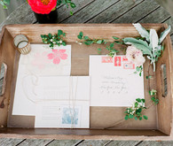 Pink Summer Flower Invitations