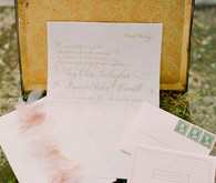 Vintage Ireland Wedding Invitations