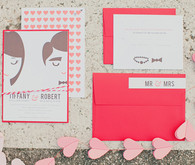 Valentine's Day Elopement Illustrated Invitations