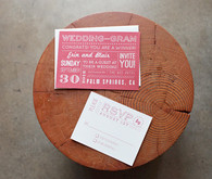 Red Postcard Style Modern Invitations