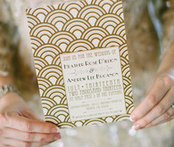 The Great Gatsby Themed Wedding Invitations