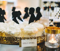 Black Silhouette Cupcake Toppers