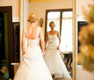 David's Bridal Gown with Gold Estate Mirror