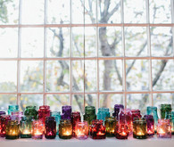 Mixed Jewel Tone Jars and Votives