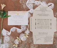 Boho Classic Fold-Out Wedding Invitations
