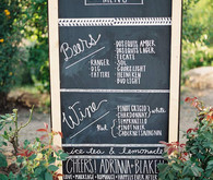 Handwritten Freestanding Chalkboard Bar Menu