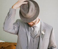 Grey Fedora, Suit and Tie