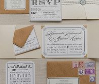 DIY Vintage Glam Invitation Suite