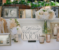 Welcome and Thank You Table with Family Photos