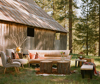Indie Rustic Reception Lounge Decor