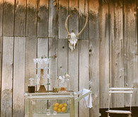 Rustic Indie Wooden Bar Cart