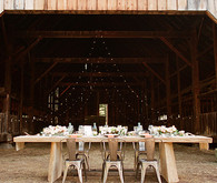 Rustic Indie Lake Tahoe Barn Reception
