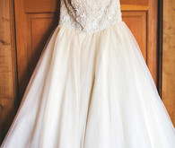 Stephanie James Couture Beaded Bust Ball Gown