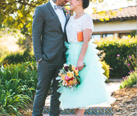 Whimsical Mexican Tile and Tiered Tulle Skirt