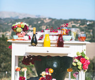 Bellini Bar on White Dresser