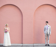 Whimsical Pastel Pink Wall Portrait
