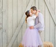 Purple Tulle Skirt and Kissing on the Hay